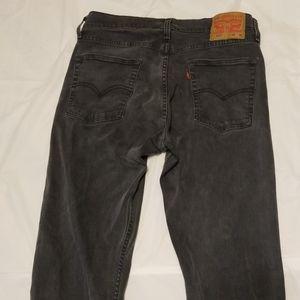 Levi's mens 513 slim straight jean size 33W 34L